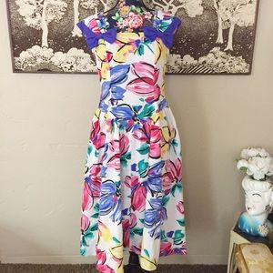 Vintage Sunshine Starshine Floral Party Dress